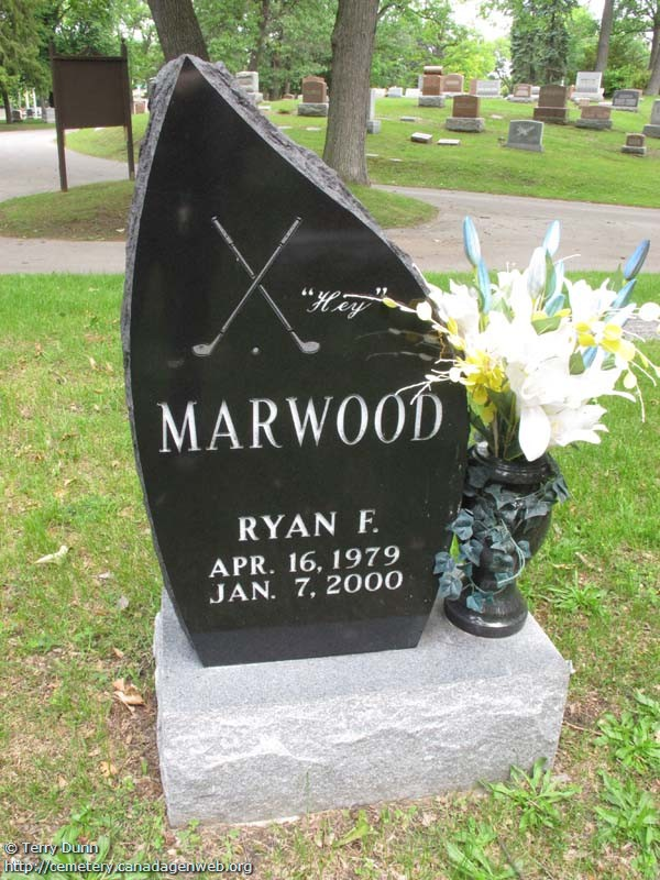 On Lakeview Cemetery Ryan F Marwood Canadagenwebs Cemetery Project