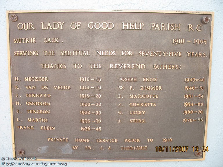 Our Lady of Good Help Cemetery